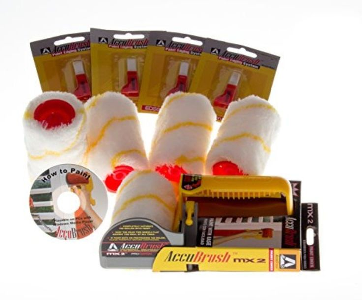 Accubrush Paint Edger 11 Piece Jumbo Kit Tool Roller Brush Reusable Home Improve #AccuBrush