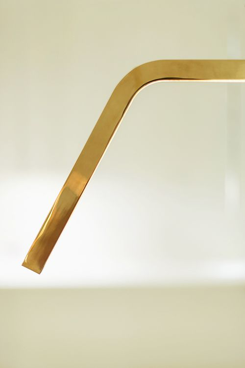 D'ARC Double-bent polished bronze profile with high performance LED lights www.inarchi.com #darc #suspended #inarchi #inarchilamps #minimal #design #designer #light #lighting #lamps #bronze #bent #double #polished #beautiful #elegant #exclusive #detail