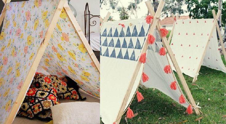 Comment fabriquer une tente pour enfant avec peu de matériel!