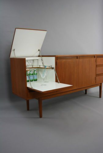 Stunning Sideboard Cocktail Cabinet BAR Drawers Vintage Retro Danish Parker ERA in Melbourne, VIC | eBay #midcenturymodernfurniture