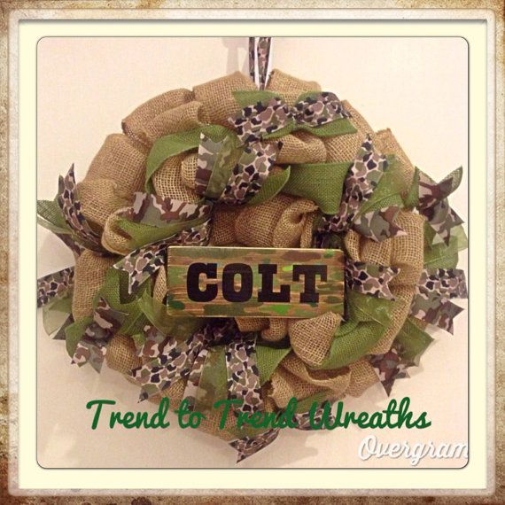 Camo Boys Room Wreath by TrendtoTrendWreaths on ... | ☎ For My Child ...