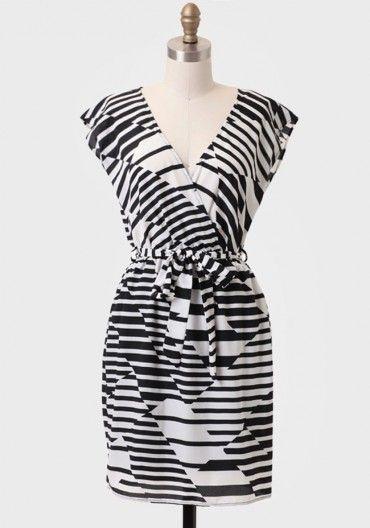 Art Gallery Sash Belt Dress | Modern Vintage Dresses | Modern Vintage Clothing