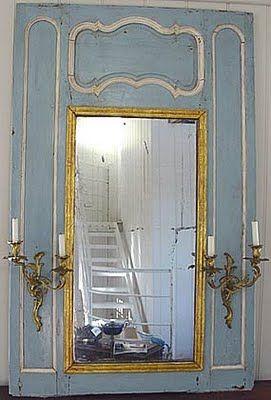 antique panelled mirror
