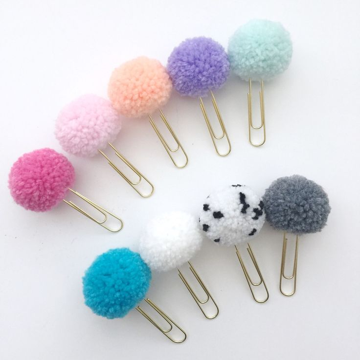 Gumdrop Pom Pom Paper Clips are back and available in more colors!  Super cute addition for your planner or books.
