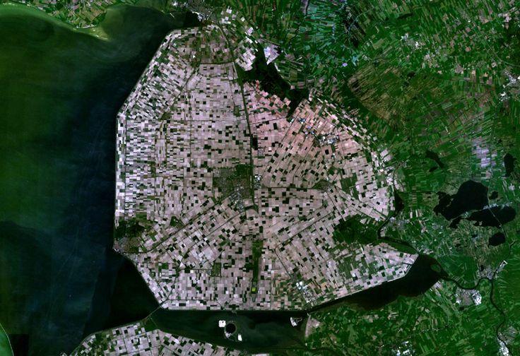 Satellite image of Noordoostpolder, Netherlands