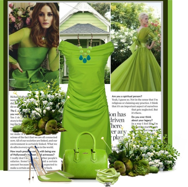 """crazy for green apple"" by bodangela ❤ liked on Polyvore"