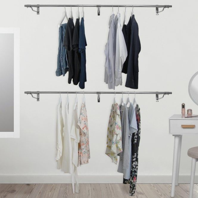 Wall Mounted Clothes Hanging Rail 1830mm Hanging Clothes Rail Hanging Rail Hanging Clothes