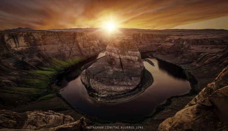What is your favorite National Park to visit? Horseshoe Bend Sunset Paige Arizona [OC] [6000x3456]   landscape Nature Photos