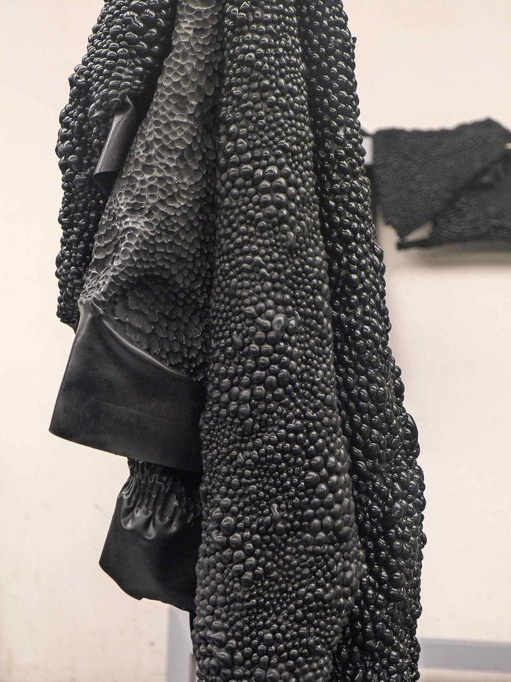 Fabric Manipulation - innovative textiles design with bubbly textures; fabric treatment // Bart Hess