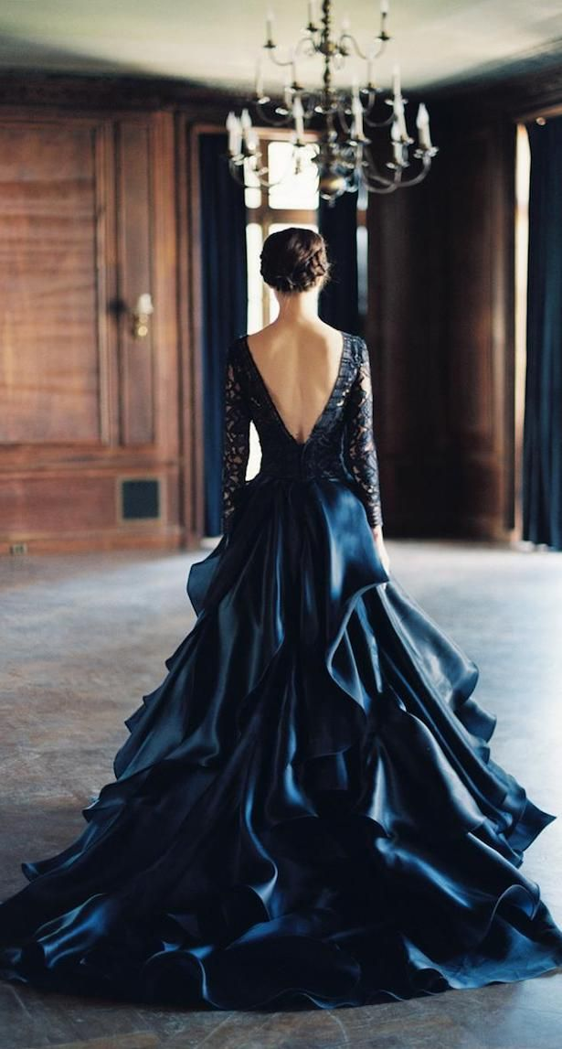 Black Wedding Dress - Sareh Nouri Spring 2016