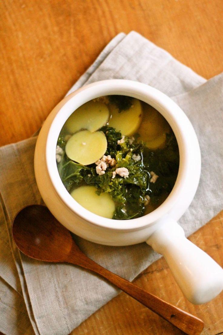 ケールとポテトと豚ひき肉のスープ [レシピ] by Yoshiko Sullivan