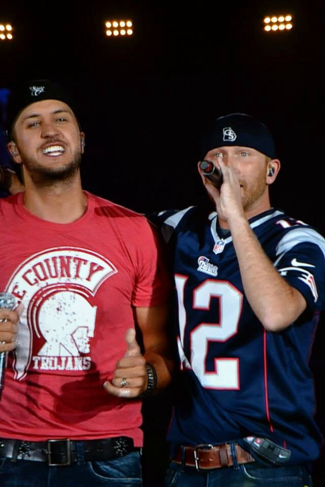 Luke Bryan and Cole Swindell. Gillette Stadium 8/10/14.