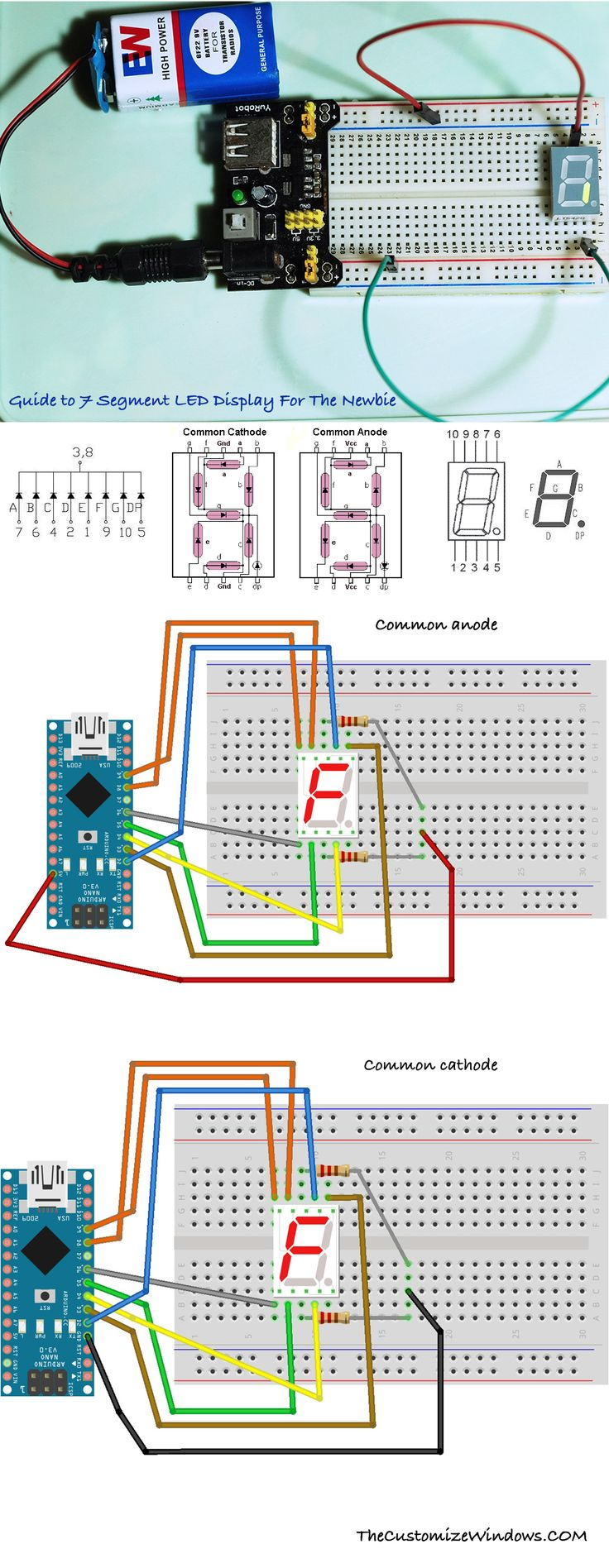 321 Best Electronics Images On Pinterest Arduino Vertical Etching Tank For Diy Pcb Electronicslab 7 Segment Led Display Tutorial Dummies