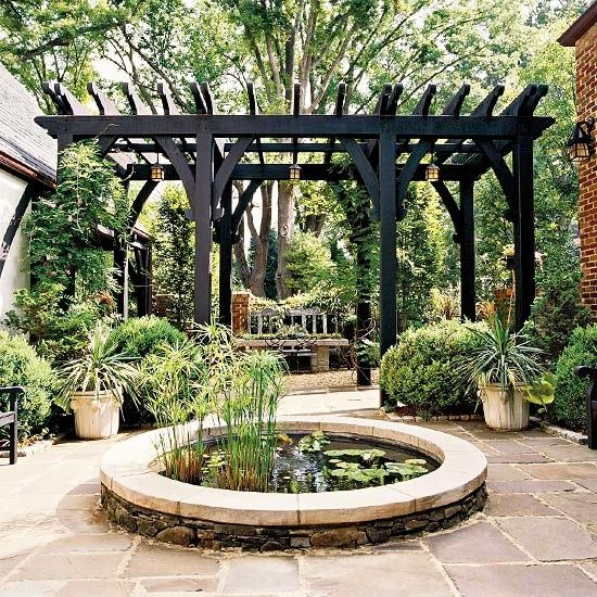 Gorgeous Black Pergola