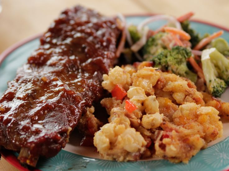 Sticky Spicy Slow-Cooked Ribs recipe from Ree Drummond via Food Network