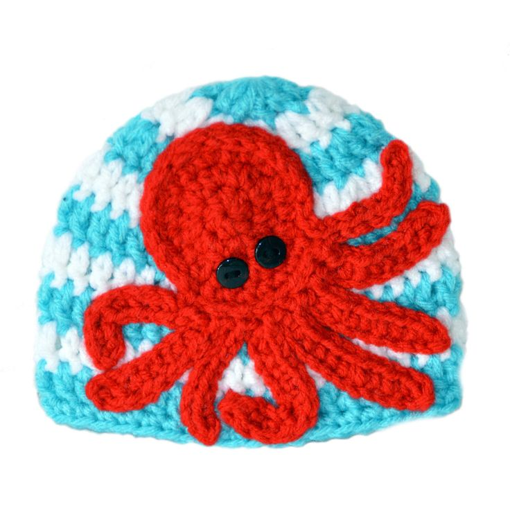 Nautical Baby Hat, Red Octopus Hat, Kraken Baby Hat, Toddler Boys Hat, Summer Beanie, Beach Hat, Baby Boys Nautical Hat, Baby Girl Summer by ToryMakes on Etsy https://www.etsy.com/listing/232536782/nautical-baby-hat-red-octopus-hat-kraken