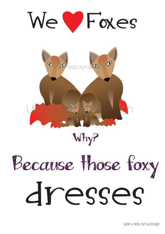 Foxy Foxes por UildriyRolo en Etsy