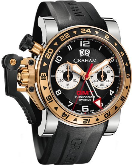 Graham Chronofighter Oversize GMT in steel and gold: