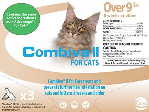 Combiva II Spot-On Topical Flea Treatment for Cats - 3 Doses