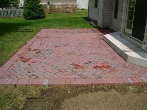 35 best brick walkway images on pinterest brick path for Red brick patio ideas