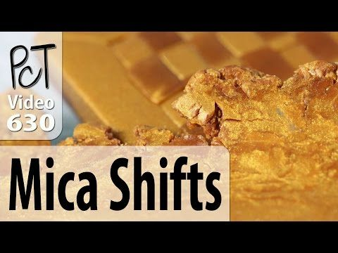 How to mica shift polymer clay and create a patterned sheet- the easy way - YouTube