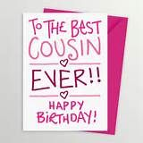 saying happy bday cousin | FREE
