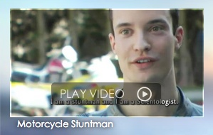 """Who are Scientologists? Meet Cyril, a motorcycle stuntman from France.    """"When I found Scientology,"""" says Cyril, """"I really found things that allowed me to understand who I am—and from then on I stopped taking drugs. I could make my life the way I wanted to and I really believe that it is thanks to Scientology that I am still doing that today.""""   PLAY VIDEO!"""