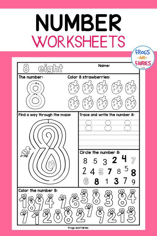 Number recognition worksheets info