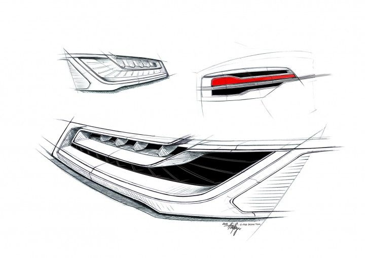 2015 Audi A8 - Headlight and Tail Light Design Sketches