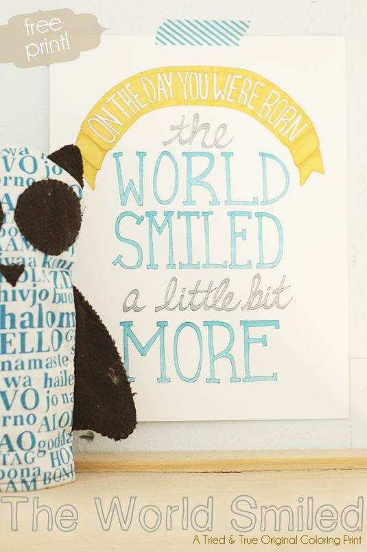 This reason to break out the watercolors:   24 Awesome Nursery Wall Prints That Cost $0