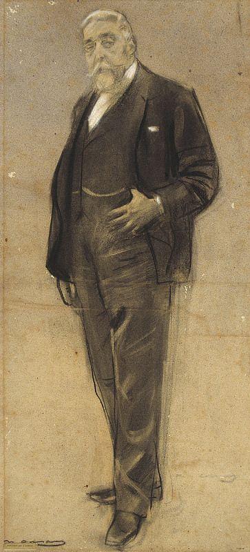 "Ramon Casas Carbó (1866-1932). ""Josep Coll i Britapaja"". MNAC. Barcelona"