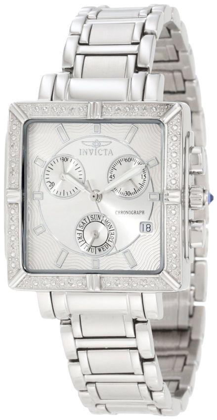 Invicta Womens Diamond Stainless Steel Chronograph Watch