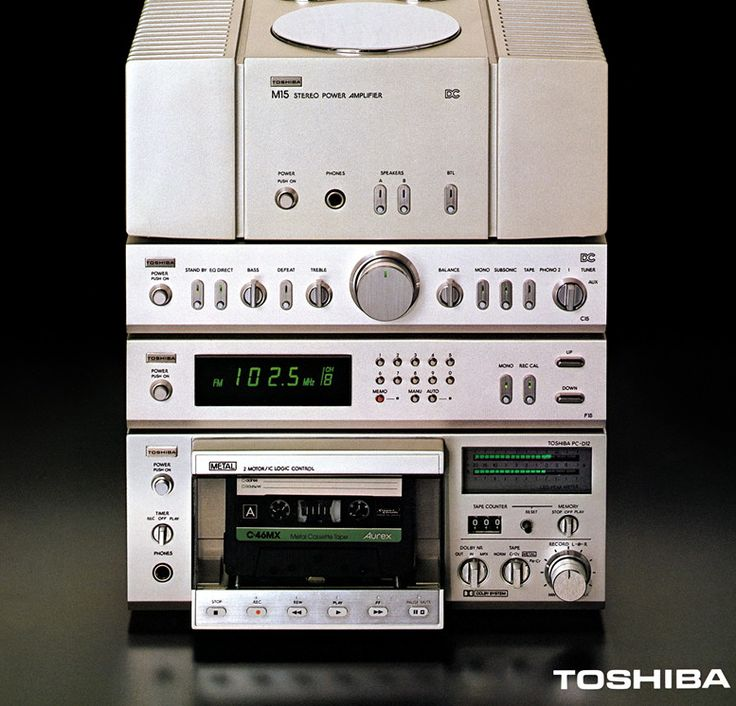 Toshiba : mini hi-fi system vintage vinyl stereo late 70's early 80's