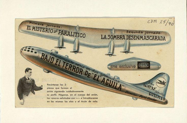 2. Bajo el terror de «El águila».  Dirigida por Ford Beebe. Barcelona: I. G. Viladot, [1932]. #ProgramasdeMano #BbtkULL #Troquelados #DiadelLibro2014