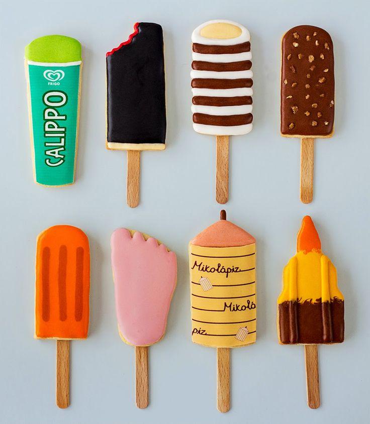 Postreadicción galletas decoradas, cupcakes y pops: Galletas decoradas: polos noventeros