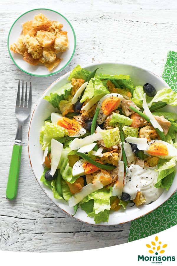 This easy version of a Caesar salad is ready in only 30 minutes and tastes delicious.   Serves 4 Total time required  Total time: 30 mins Preparation time: 10 mins Cooking time: 20 mins