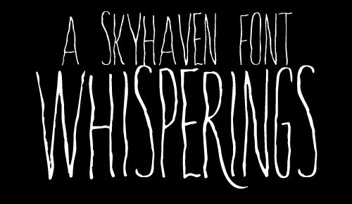 Whisperings font by Skyhaven - FontSpace