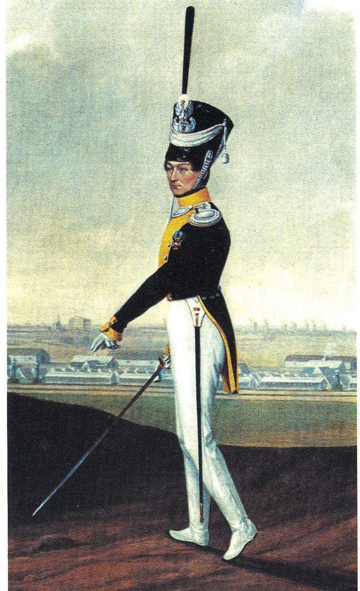 kapitan grenadierów 1 pułku piechoty liniowej w munurze letnim 1815-1828 mal.J.Łukaszewicz/captain grenadiers company of 1-st infantry regiment in sommer uniform
