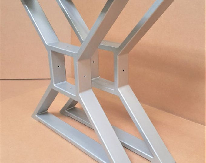 "Modern, Dining Table ""X"" Legs, Model #TTS09G, Smooth Grinded welds, Industrial Legs from 3"" x 1"" Tubing"
