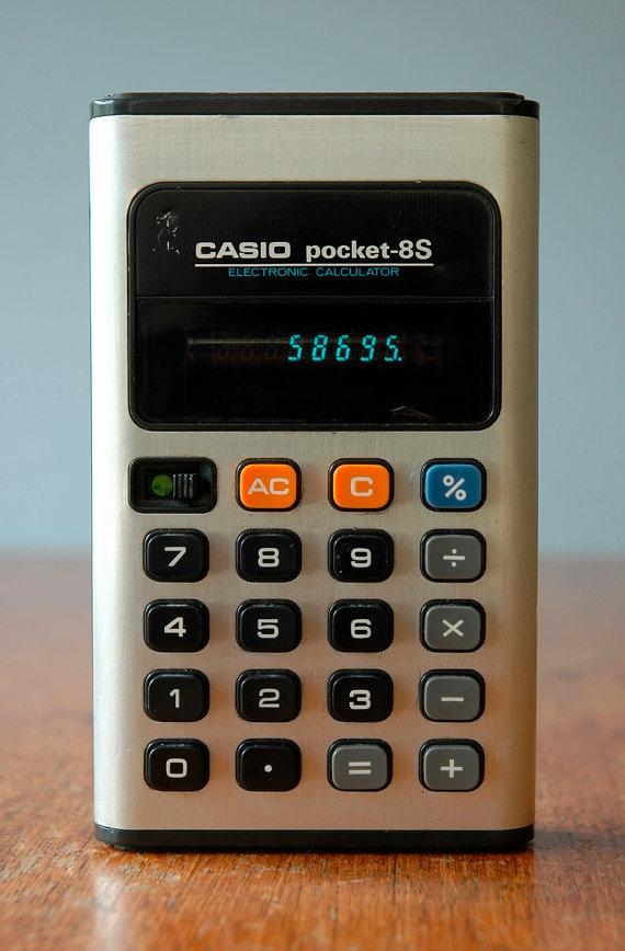 Vintage Casio Pocket-8S Calculator