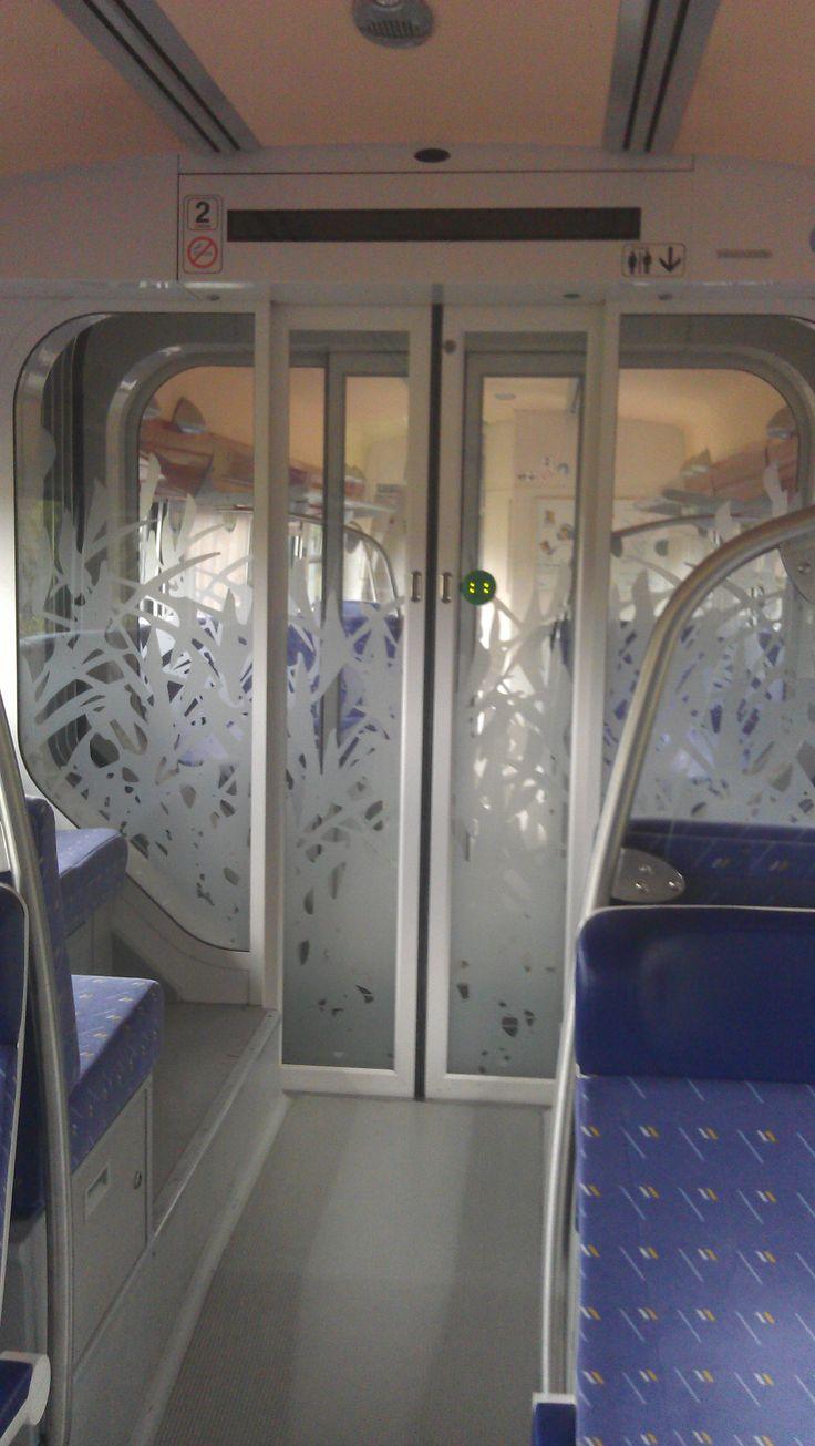 Durchgangstür Triebwagen SNCF TER Alsace am 06.08.2011.