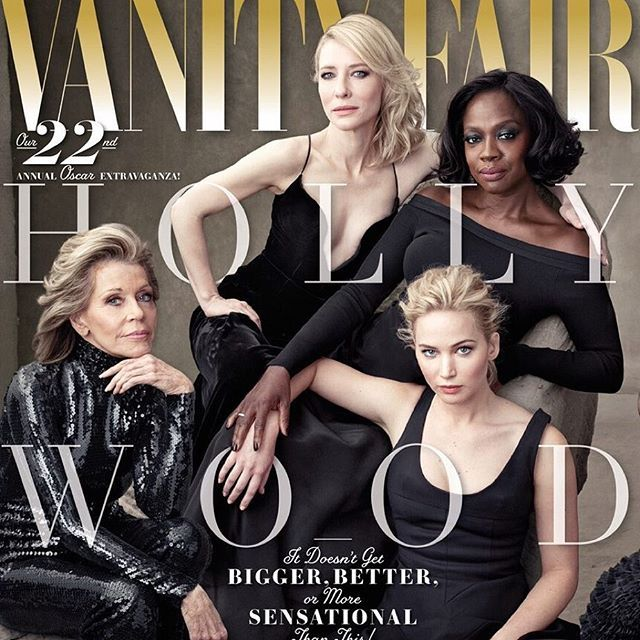 "➡️ Кейт Бланшетт, Виола Дэвис, Дженнифер Лоуренс и Джейн Фонда в объективе Энни Лейбовиц на обложке ежегодного ""голливудского"" спецвыпуска @VanityFair. ➡️ #VanityFair reveals #HollywoodIssue cover featuring Cate Blanchett, ViolaDavis, Jennifer Lawrence and Jane Fonda, shot by #AnnieLeibovitz. #cateblanchett #violadavis #jenniferlawrence #janefonda #buro247kz #hollywood"