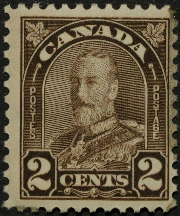 "https://flic.kr/p/RsAvLs | SC #166 - Mint | Canada Postage Stamp 1931 2¢ King George V ""Arch/Leaf"" Issue"