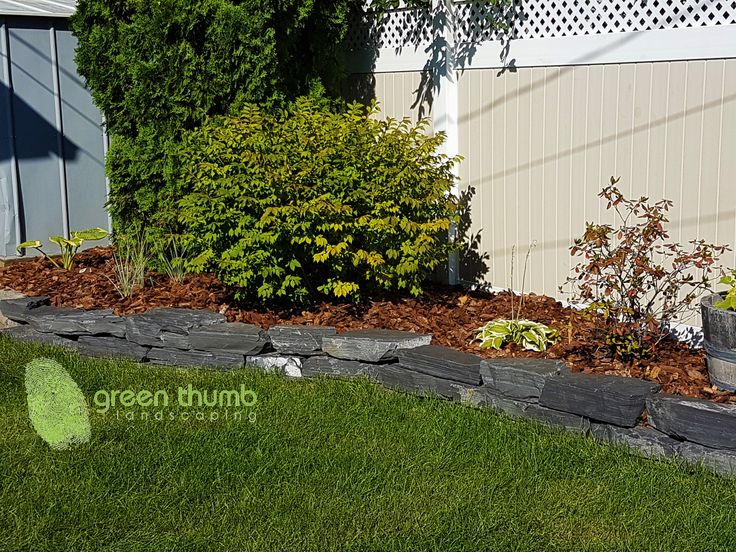 Natural stone makes great garden edging. This is 2-4 inch Rundle stone.
