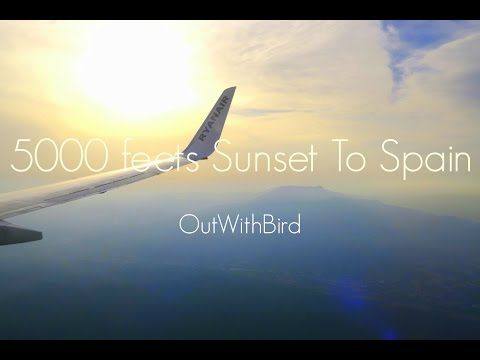 5000 feets sunset fly to Sitges Spain first day Paella eating! - YouTube