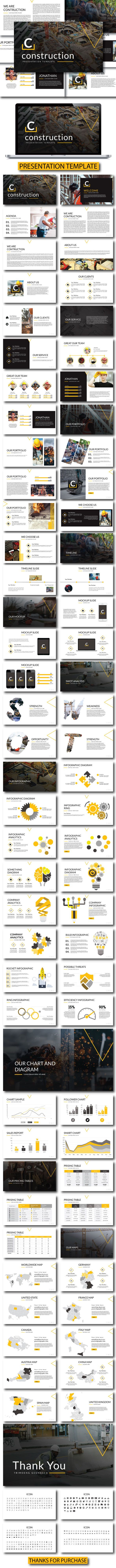 Construction - Creative Keynote Template - Keynote Templates Presentation Templates