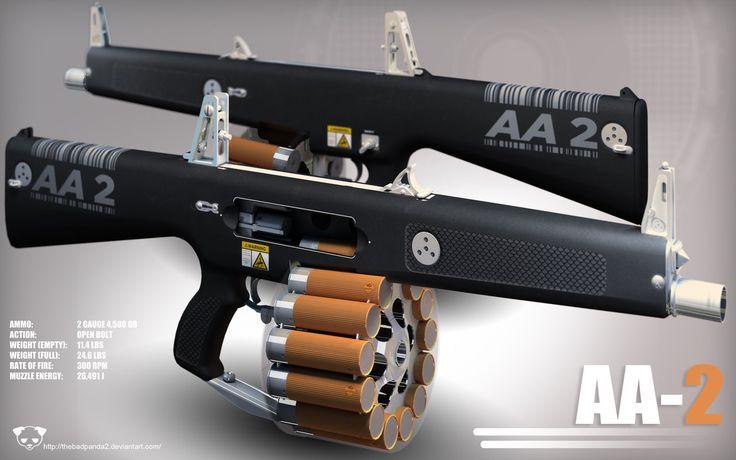 AA-2 Automatic Shotgun by TheBadPanda2.deviantart.com on @deviantART