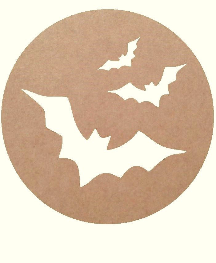 unfinished mdf Bats on Moon shape by ShapesCreativeUK on Etsy