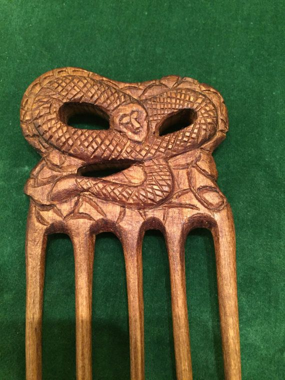 Unique Handmade Wooden Comb by karinaartgallery on Etsy