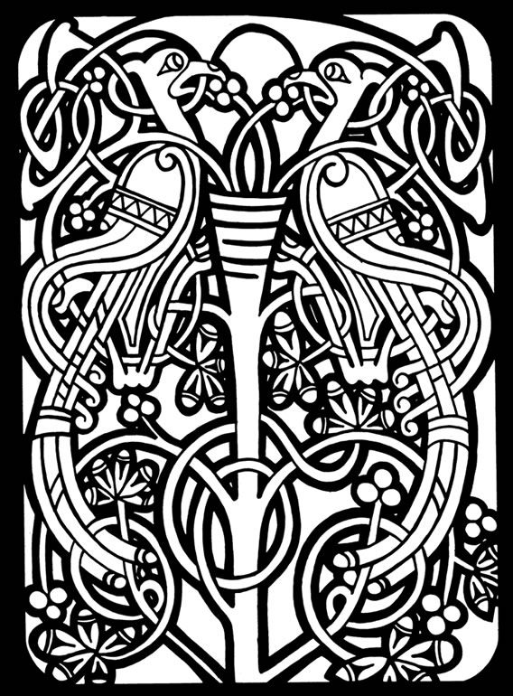 Celtic Stained Glass Coloring Book Dover Publications